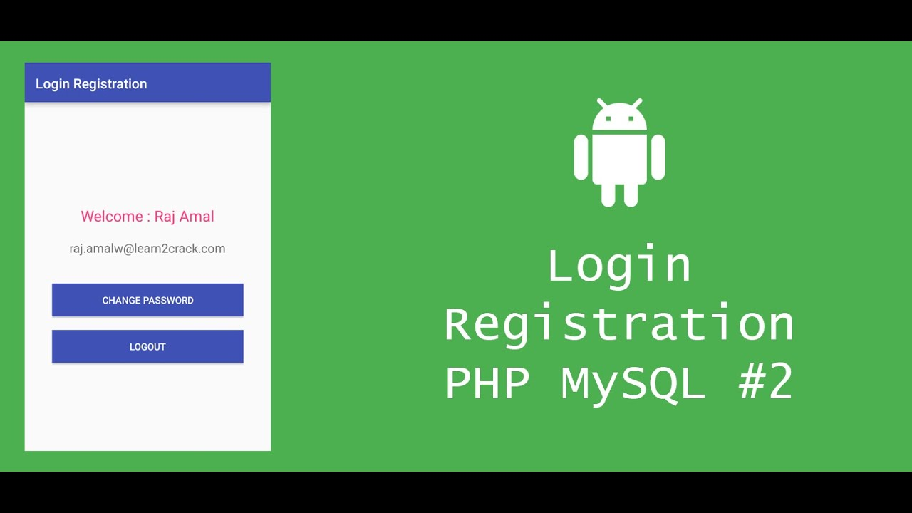 Android Login Registration System with PHP and MySQL - Client