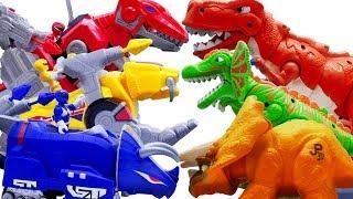 Могутні Рейнджери Іграшки Врятувати Тварин! Zords робот проти динозаврів - іграшки грати часу