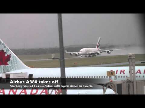 Airbus A380 makes emergency landing in Ottawa