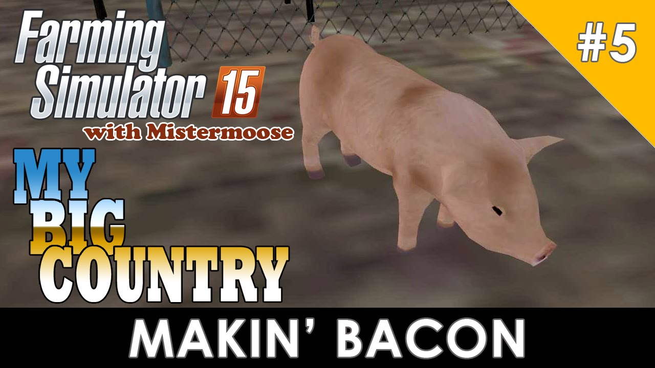 Farming Simulator My Big Country Selling Pigs And More - Farming simulator 2015 us map feed cows