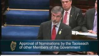 Gerry Adams - Opening Speech in the Dáil
