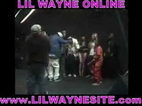 young money ent and lil wayne photo shoot backstage access