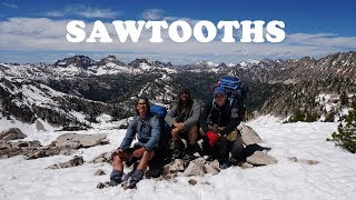Snowy Sawtooths Backpacking 4K Highlights: Alice/Toxaway/Hidden Lake/Cramer Divide