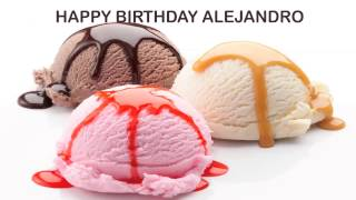 Alejandro   Ice Cream & Helados y Nieves - Happy Birthday