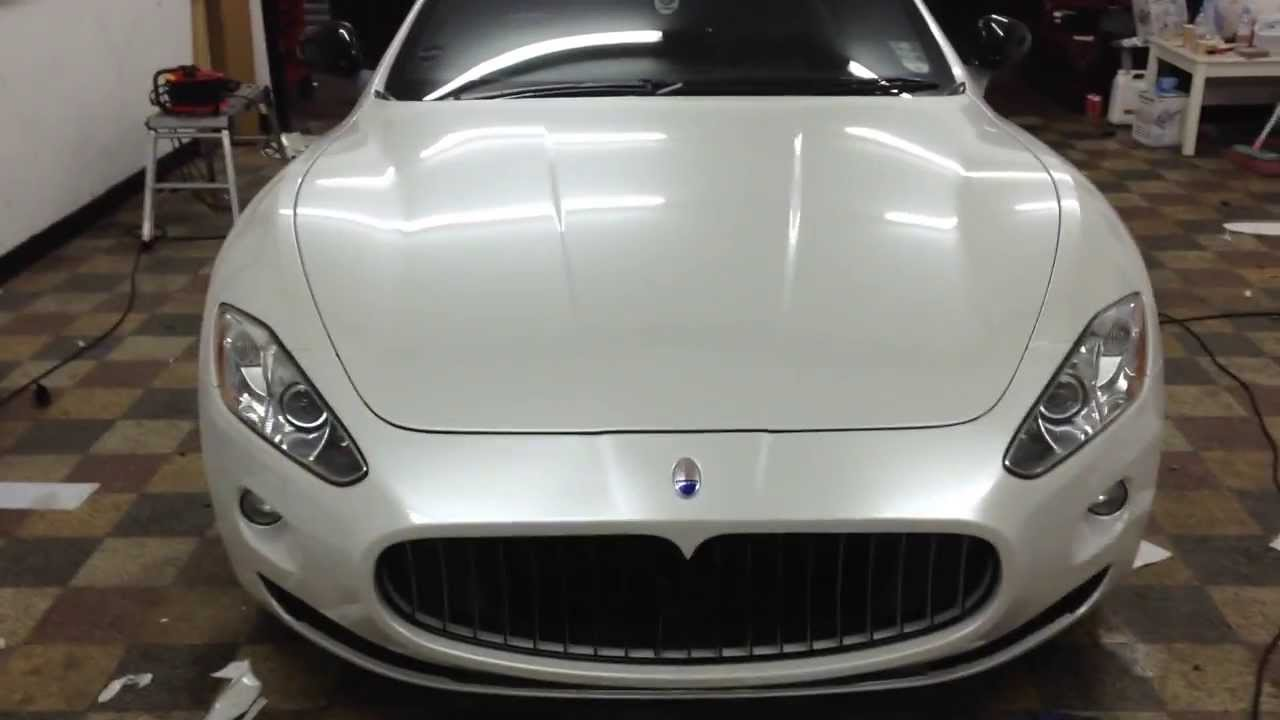 Maserati Granturismo Pearl White Wrap Wrapping Cars London Www