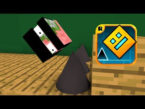 Monster School : GEOMETRY DASH CHALLENGE - Minecraft Animations