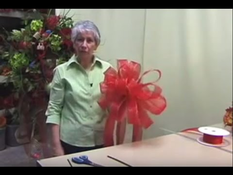 How To Make A Christmas Tree Bow Topper  Nancy Alexander (2016 Edition)