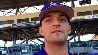 LSU pitcher Nick Storz on making his season debut