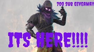 🔥🔥#RoadTo700 🔥🔥 NEW RAVEN SKIN IS HERE!! Fortnite Battle Royale Xbox One X Live Stream