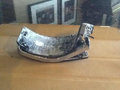 HD Brand new iphone 5 destruction explodes breaks blows up in the wall - YouTube