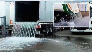 Testez dans l'étanchéité du corps du camion remorque