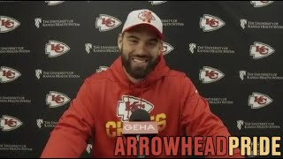 Chiefs' OL Laurent Duvernay-Tardif joins local media for first appearance in a year's time