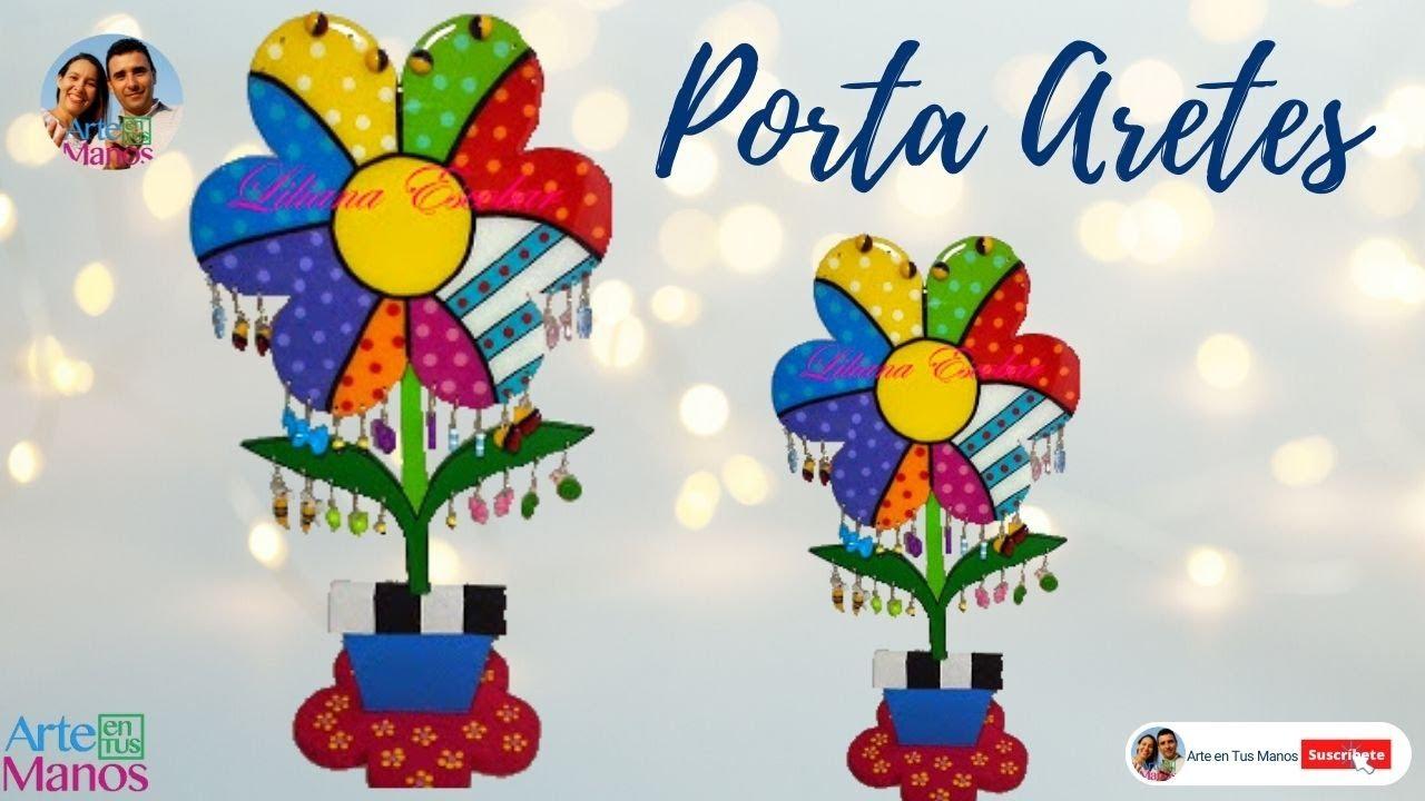 Porta aretes en flor t cnica country paso a paso youtube - Que pintura utilizar para madera ...
