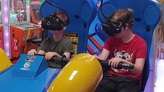 My Kids (and me) On Virtual Rabbids In BLACKPOOL UK Amusement …
