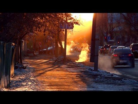 Tyumen in the Mist - Siberian Winter Moments