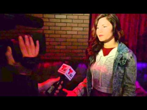Rain Bisou interviews with Telemundo to promote NOTES OF VALOR