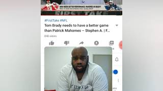 Tom Brady needs to have a better game than Patrick Mahomes - Stephen A.   First take