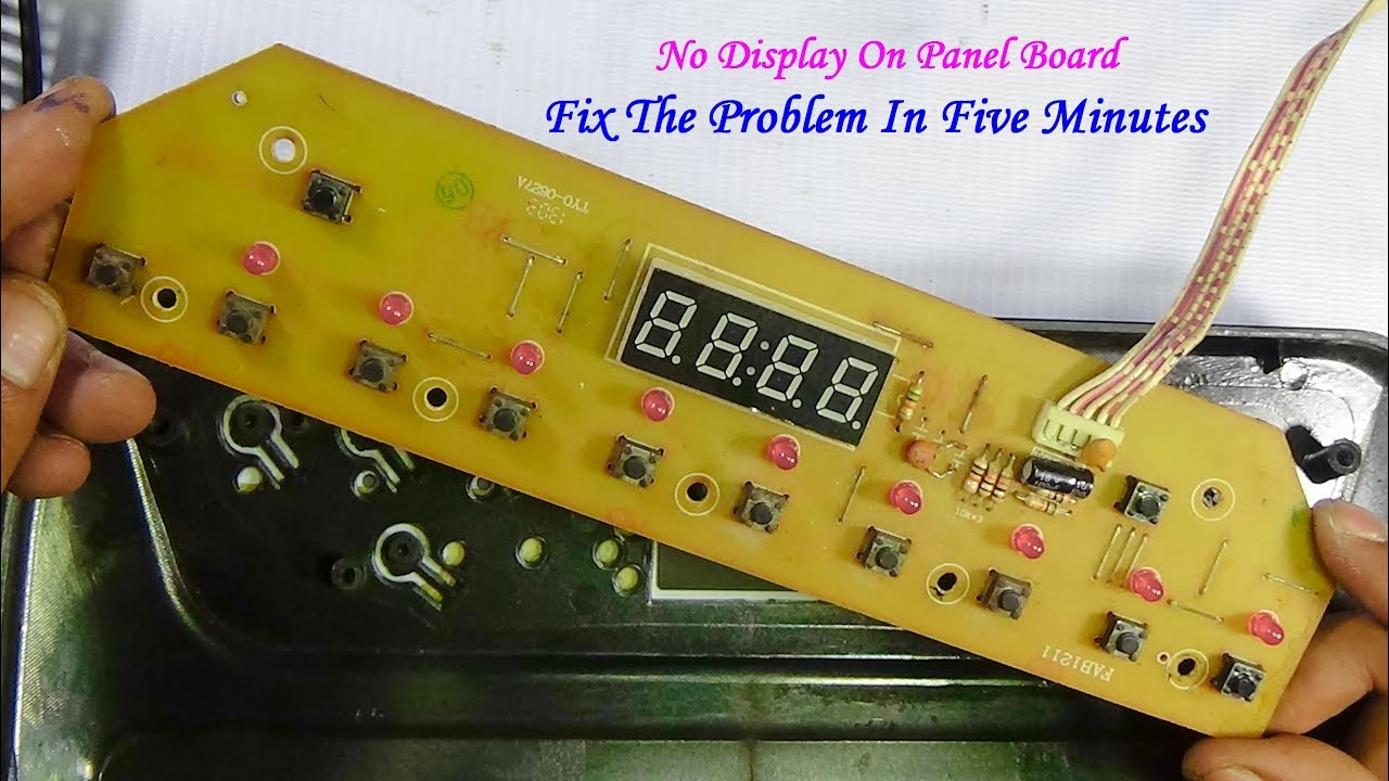 How To Repair No Display On Panel Board Of Induction Cooker Very With Simple Heater Together Circuit Useful