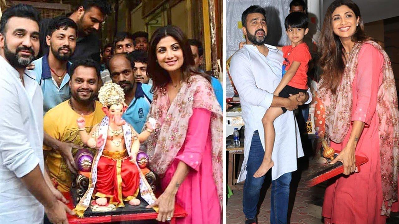 Shilpa Shetty's Ganpati 2018 Aagman - Shilpa Shetty Brings Bappa To Her  House In Mumbai