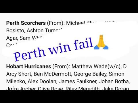 PERTH SCORCHERS VS HOBART HURRICANES || PREDICTION ||