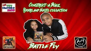 Construct-a Bugz Riders and Nests collection | Electronic Battle Fly | Unboxing and Demo