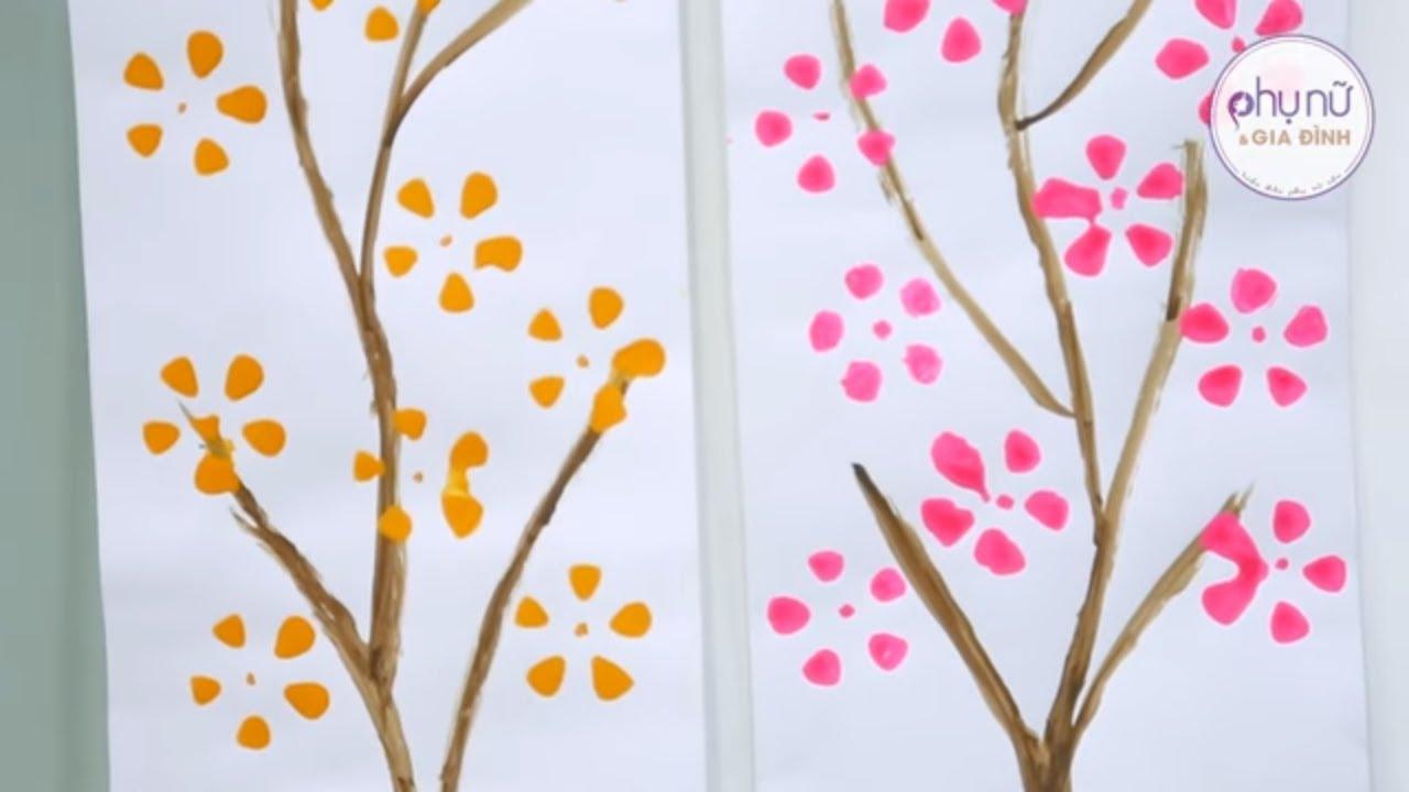 Mẹo Vặt – Vẽ Tranh Hoa Đào bằng CHAI NHỰA Đẹp để trang trí ngày TẾT | Phụ Nữ và Gia Đình