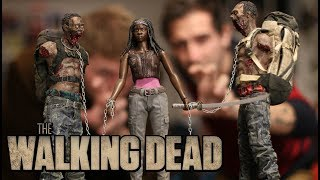 Zombie Alert The Walking Dead Michonne mas Zombie Pack Threezero Unboxing en español