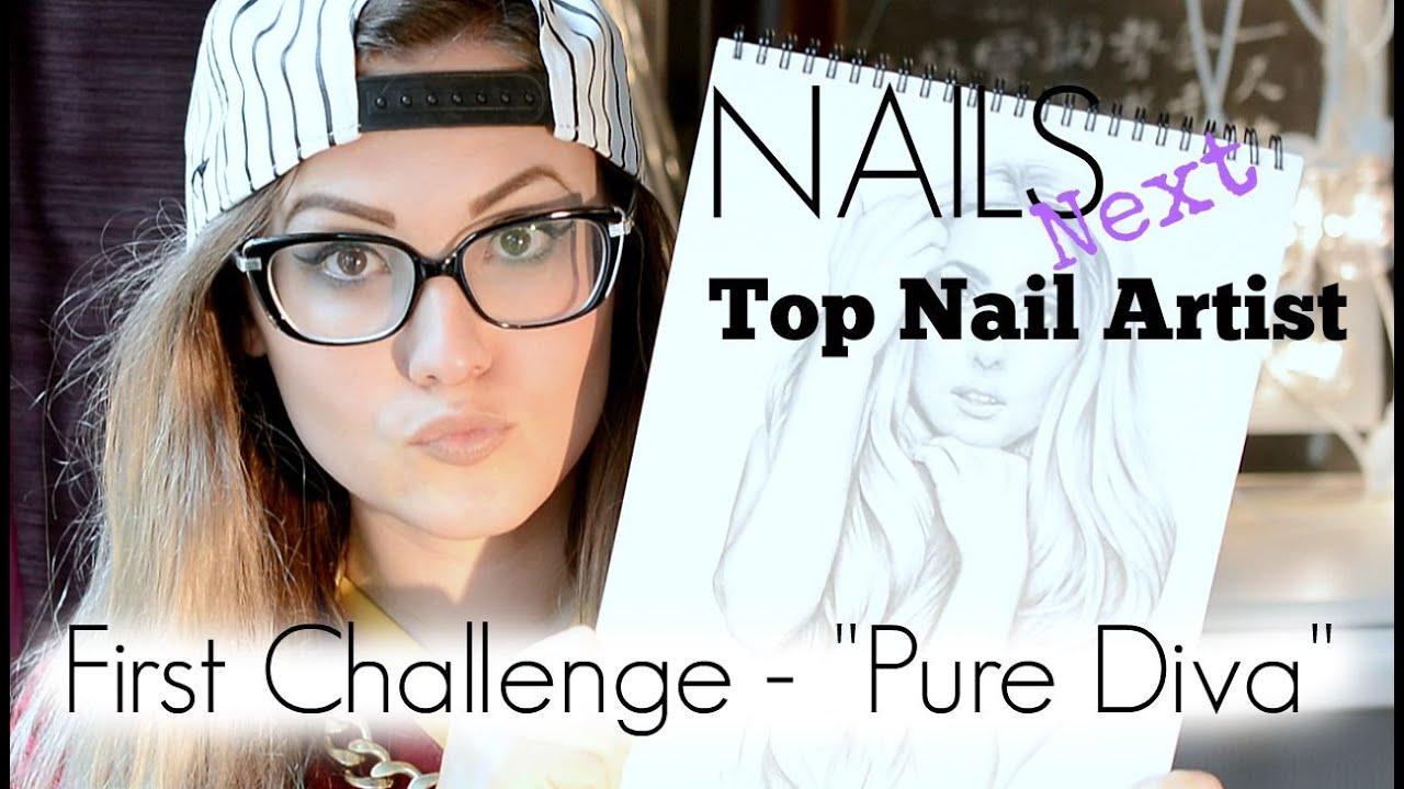 NTNA NAILS Next Top Nail Artist - Challenge 1 - Pure Diva - YouTube