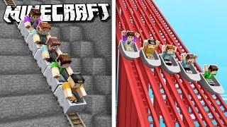 THE PALS NOOB vs. PRO ROLLER COASTER! (Minecraft)