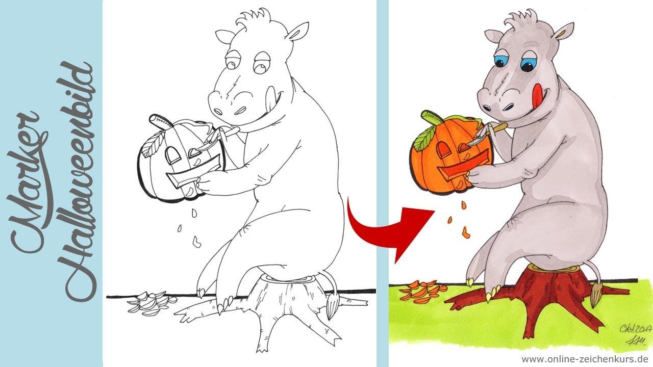 halloween malvorlagen kostenlos ausdrucken jung  x13 ein