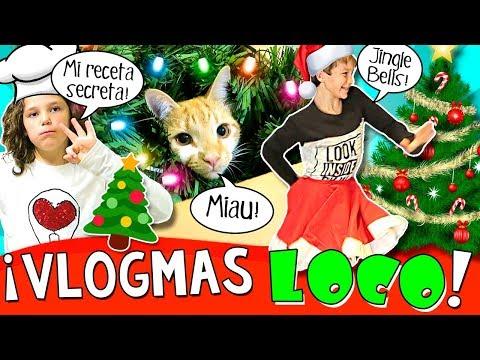 ¡¡DECORAMOS la casa de NAVIDAD!! 🎄 Vlogmas LOCO con Receta de DANIELA y Mix de VILLANCICOS 🎶