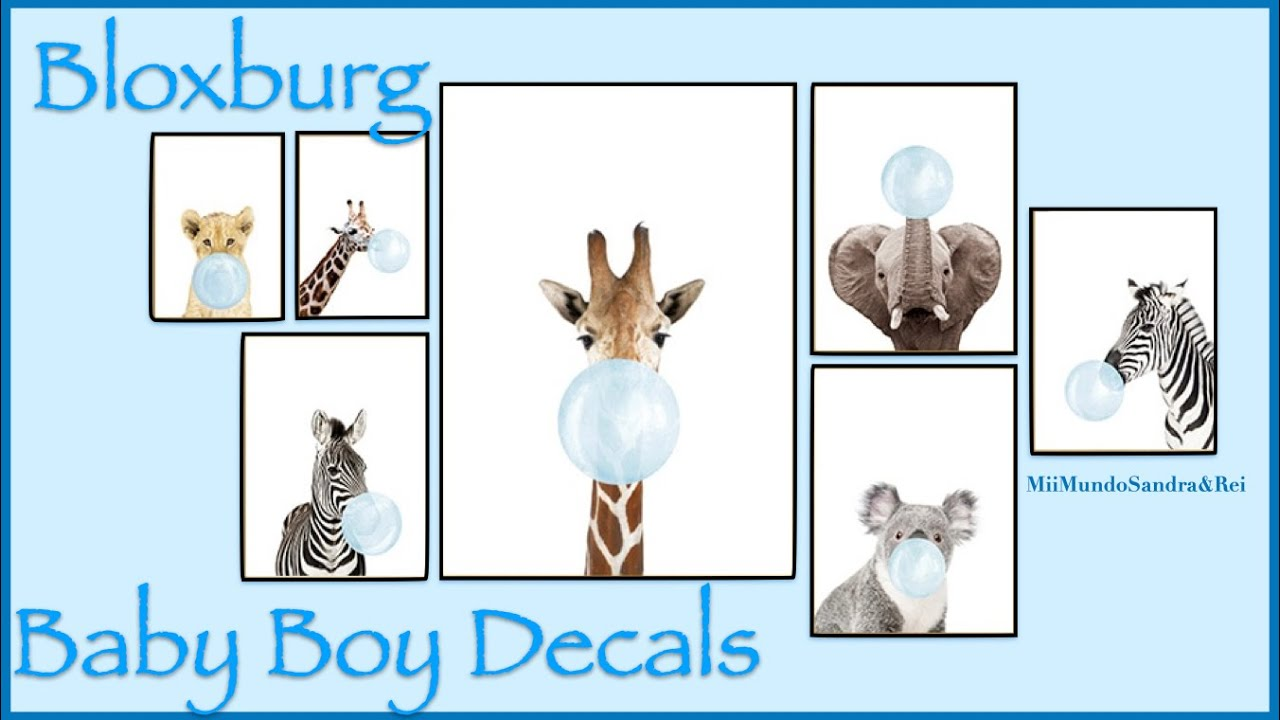 Bloxburg || Nursery Decal Codes || 2020 - YouTube