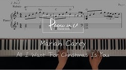 Mariah Carey - All I Want For Christmas Is You/Piano cover/Sheet