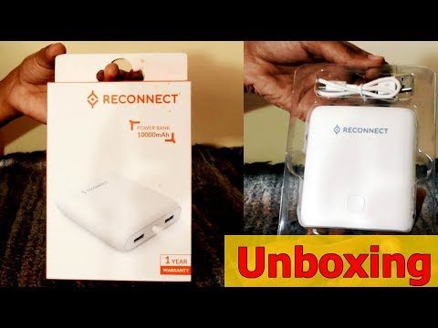 Reconnect 10000 mAh power bank  Unboxing by i'm Ajinkya