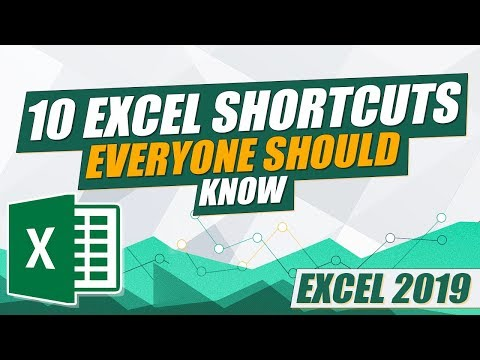 Excel 2019 - 10 Excel Shortcuts Everyone Should Know (Excel training) thumbnail