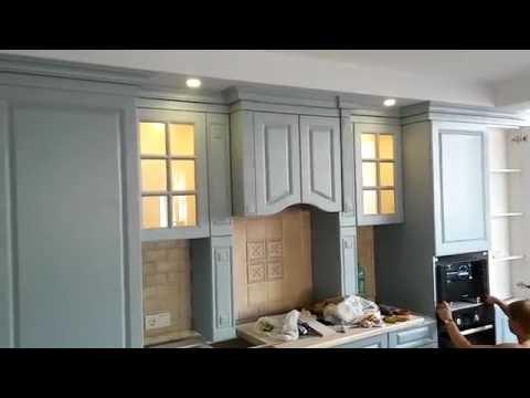 Освещение на кухне, светильники по дизайнпроекту