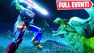 "*BEST VIEW* FULL ""ROBOT vs. MONSTER EVENT"" in Fortnite! (LIVE EVENT REPLAY)"