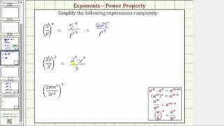 Ex: Simplify Fractions Raİsed to Powers (Positive Exponents Only) Version 2