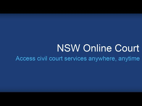 NSW court services online; NSW Online Court, NSW Online Registry, NSW Searchable Court Lists