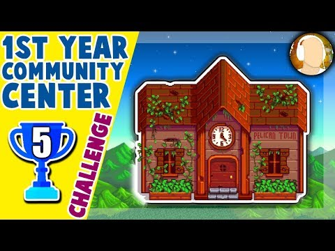 "Stardew Valley - Community Center Challenge! | ""GOLD FISHING SPOT! - cheating?"" Part 5"
