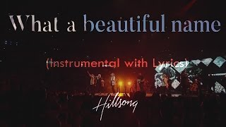 WHAT A BEAUTIFUL NAME Hillsong Acoustic Instrumental Piano Karaoke