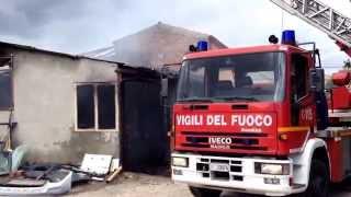 Incendio in via Ravenna a Ferrara