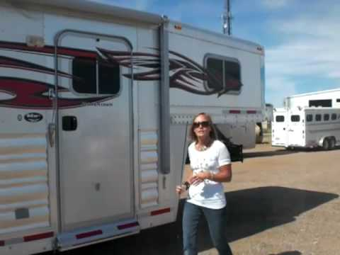 Operating A Two Step Awning On Your Horse Trailer By Coolhorse Amarillo Texas