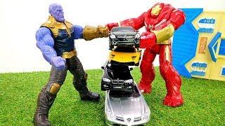 Игры для мальчиков - Железный Человек и Танос! - За кого Халкбастер?