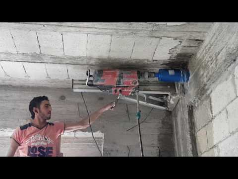 HILTI DD 200  core drilling 112 mm concrete hole with ibrahim kabalan