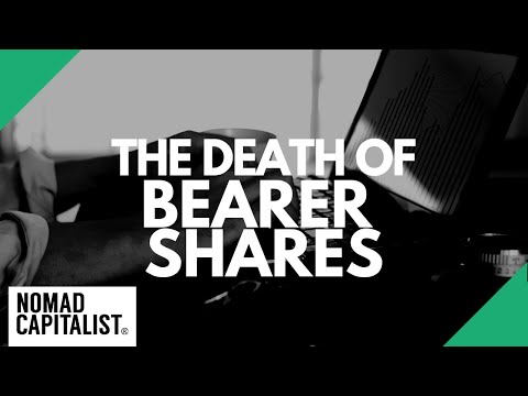 What are Bearer Shares and Why did They Die?