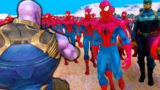THANOS VS 10000+ SUPERBOHATERÓW (SPIDER-MAN IRON MAN) ULTIMATE EPIC BATTLE SIMULATOR PL
