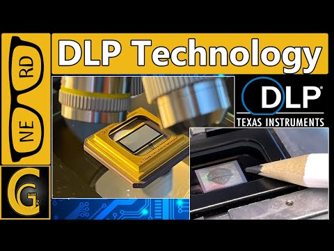 DLP Technology & Digital Mirror Device under Microscope and Image Test, CAUTION: Super Interesting