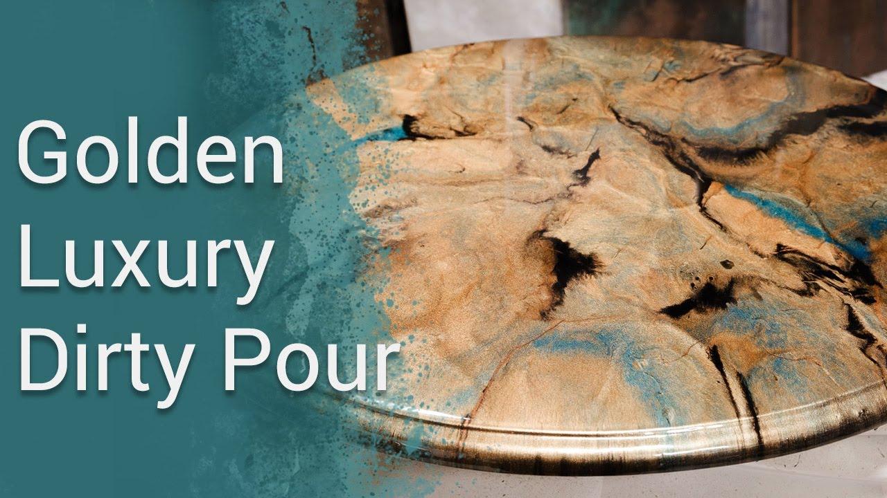 Golden Luxury: Stone Coat Epoxy Dirty Pour