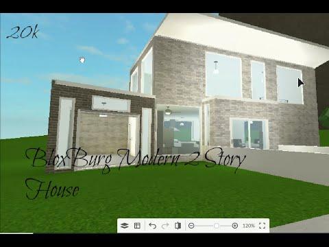 Bloxburg 2 Story Modern Family House Speedbuild 20k Youtube